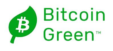 bitcoin green crptocurrency logo