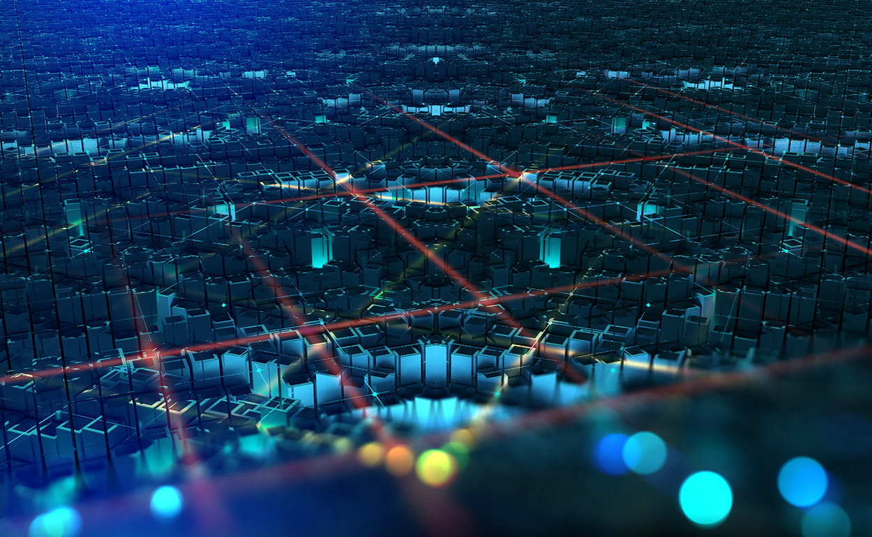 crypto city overhead view